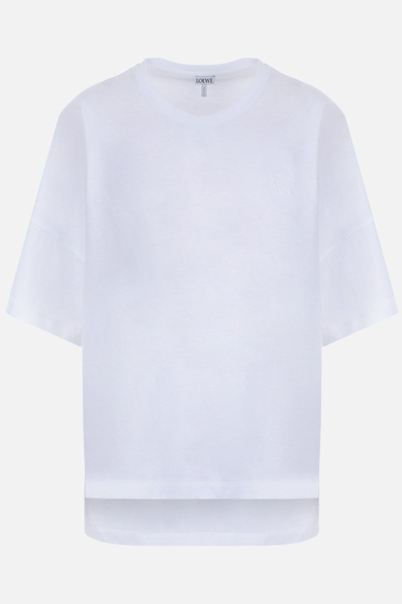 LOEWE: Anagram oversized cotton jersey t-shirt Color White_1