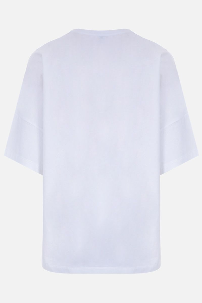 LOEWE: Anagram oversized cotton jersey t-shirt Color White_2
