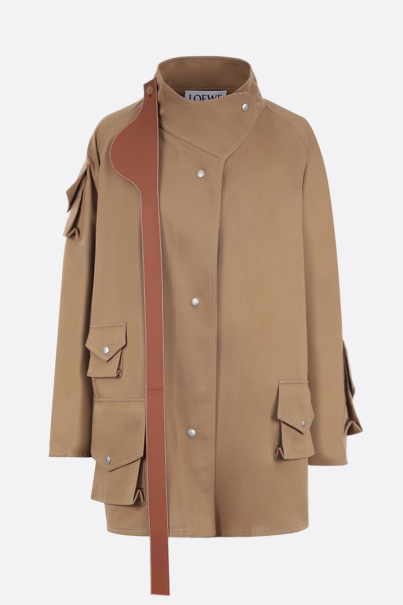 LOEWE: cotton twill military parka Color Neutral_1