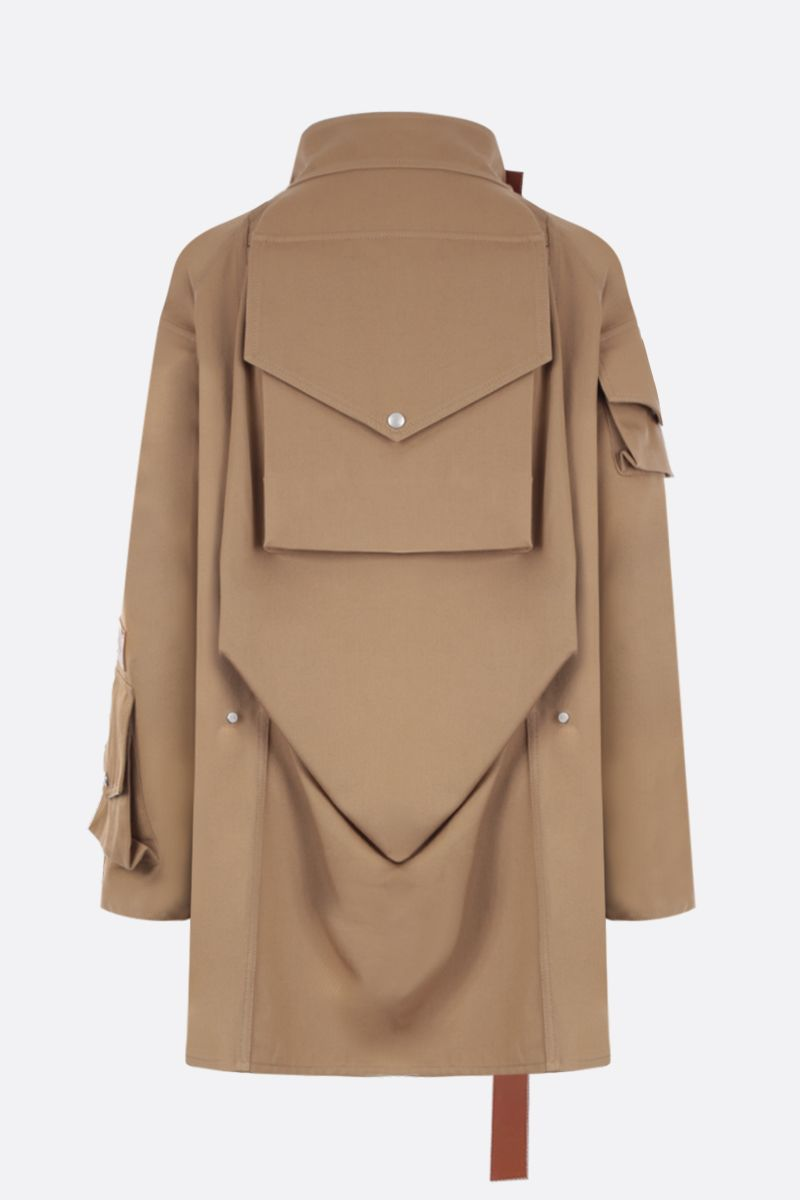 LOEWE: cotton twill military parka Color Neutral_2