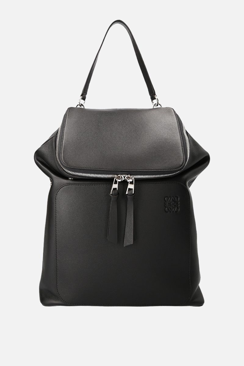 LOEWE: Goya backpack in grainy leather Color Black_1