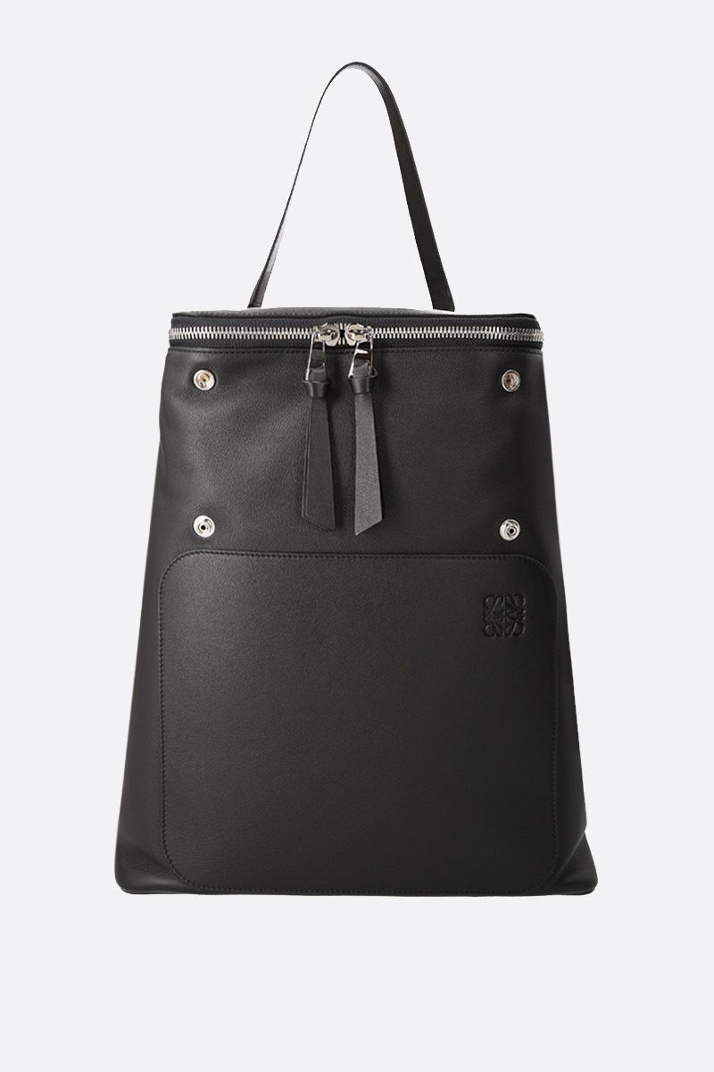 LOEWE: Goya backpack in grainy leather Color Black_2