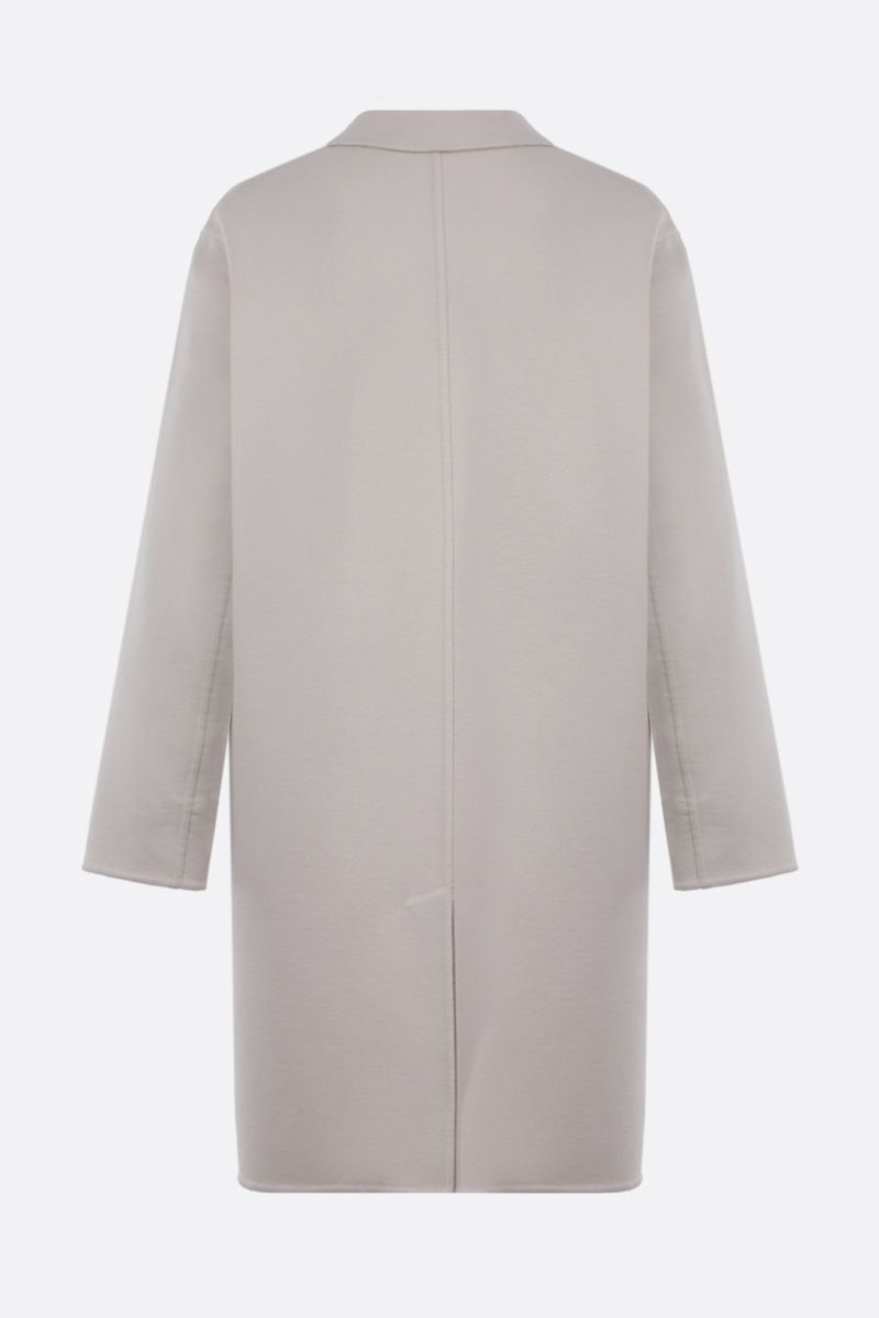 LORO PIANA: Chuck single-bhreasted cashmere coat Color White_2
