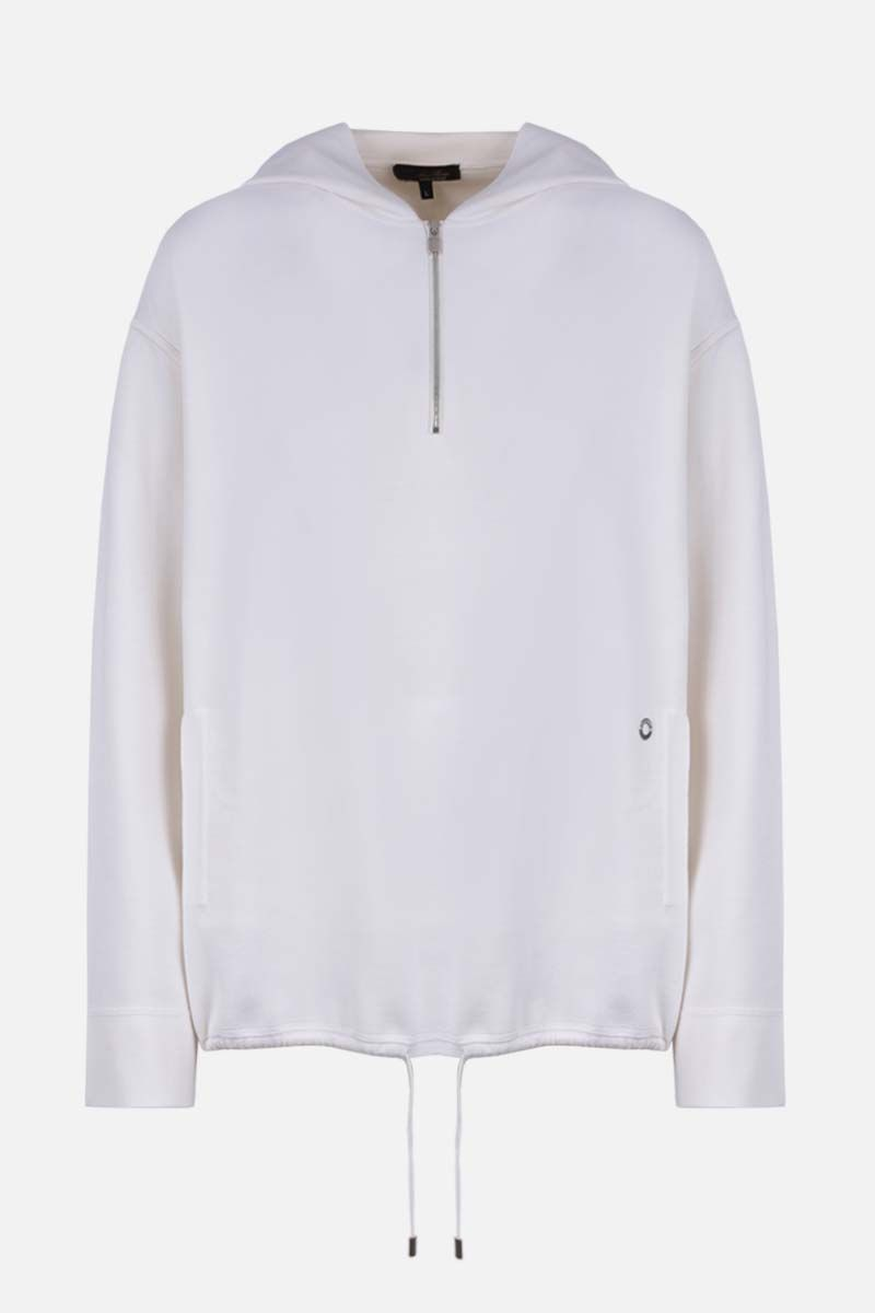LORO PIANA: Fairmount loose-fit silk hoodie Color White_1