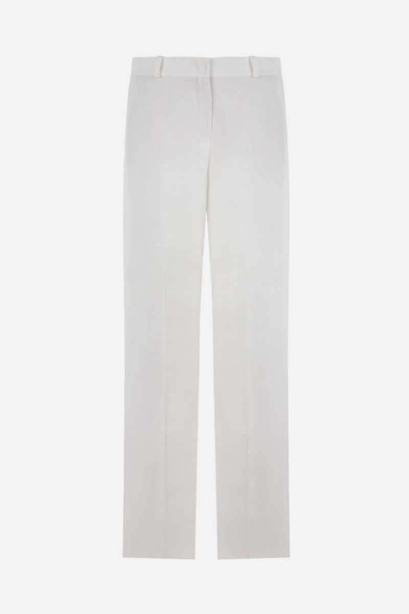 LORO PIANA: Adam Antigua wide-leg linen pants Color White_1