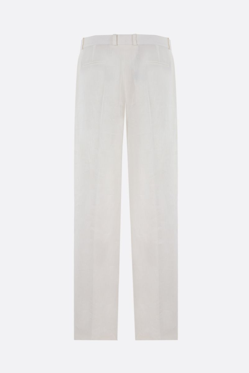 LORO PIANA: Adam Antigua wide-leg linen pants Color White_2