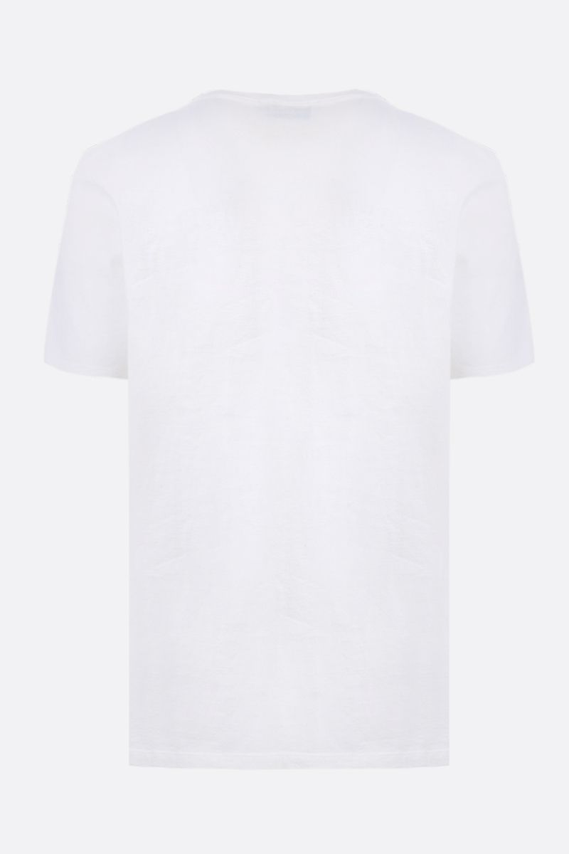 MAISON KITSUNÈ: t-shirt in jersey patch Tricolor Fox Colore Bianco_2