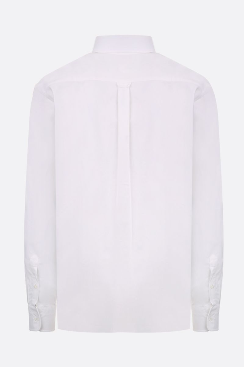 MAISON KITSUNÈ: Tricolor Fox patch cotton oxford shirt Color White_2