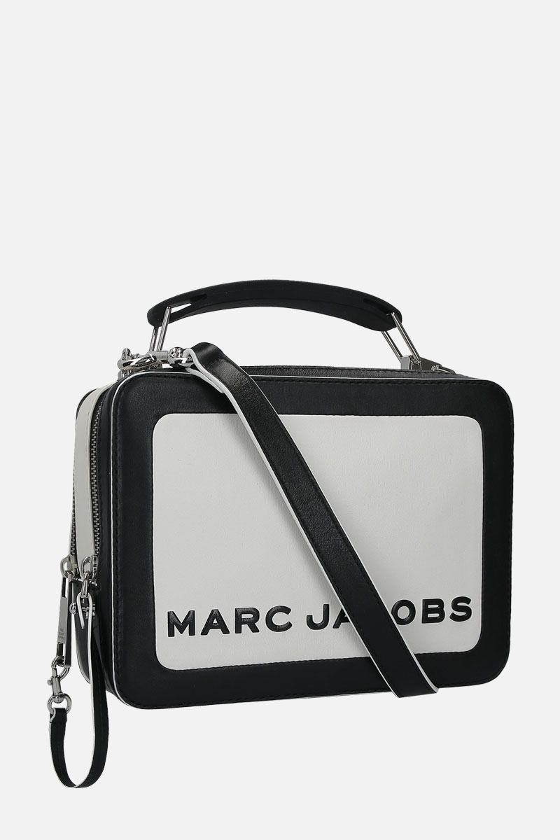 MARC JACOBS: The Box Colorblocked top handle bag in smooth leather Color Multicolor_2