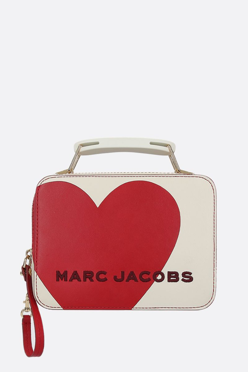 MARC JACOBS: The Heart Box mini handbag in smooth leather Color Multicolor_1