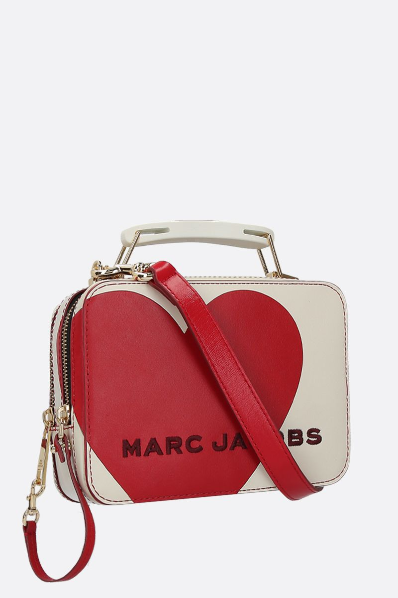 MARC JACOBS: The Heart Box mini handbag in smooth leather Color Multicolor_2