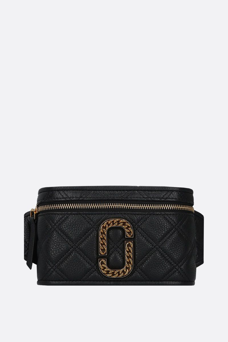 MARC JACOBS: The Status belt bag in quilted leather Color Black_1