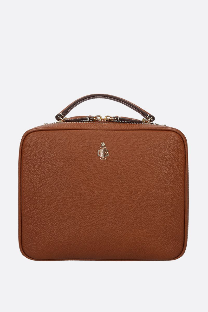 MARK CROSS: Laura grainy leather top handle bag Color Brown_1