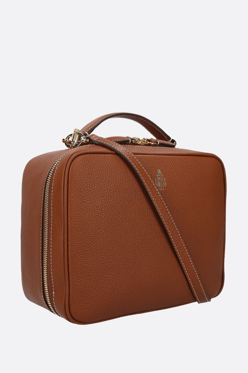 MARK CROSS: Laura grainy leather top handle bag Color Brown_2
