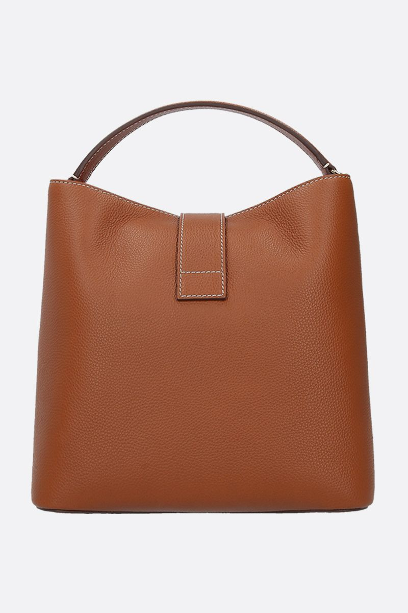 MARK CROSS: Murphy large grainy leather top handle bag Color Neutral_3