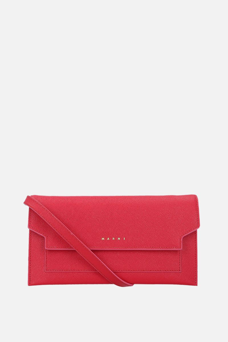 MARNI: saffiano leather strap wallet Color Red_1