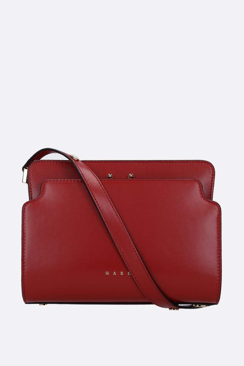 MARNI: Trunk medium shoulder bag in smooth leather Color Red_1