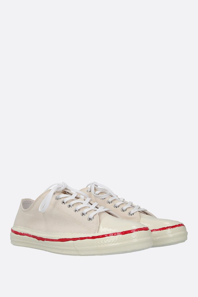 MARNI: canvas low-top sneakers Color White_3