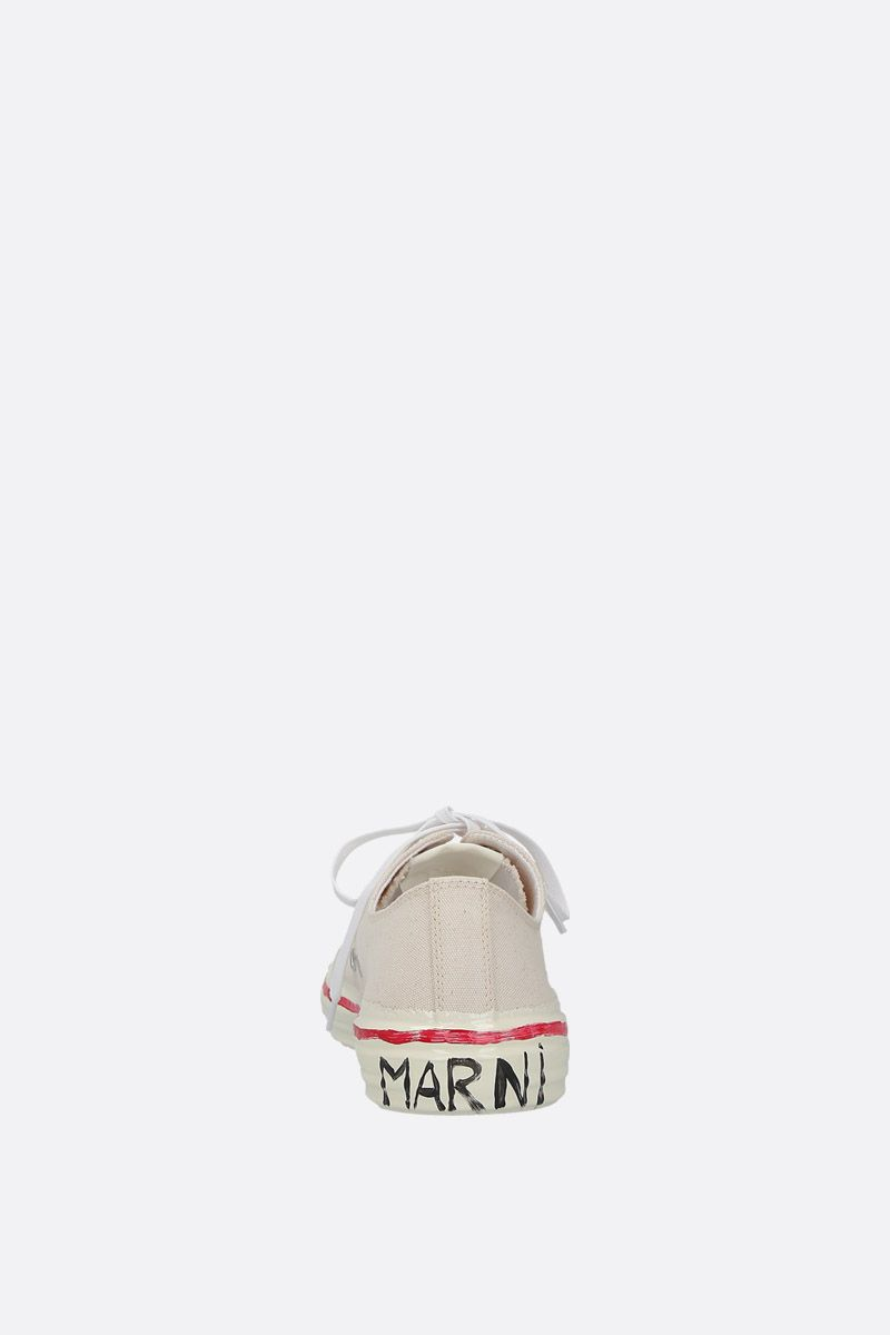 MARNI: canvas low-top sneakers Color White_4