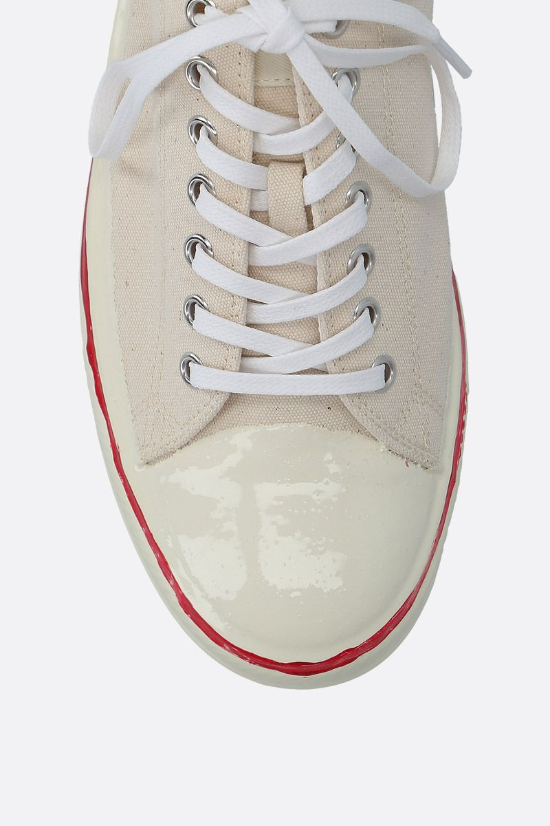 MARNI: canvas low-top sneakers Color White_5