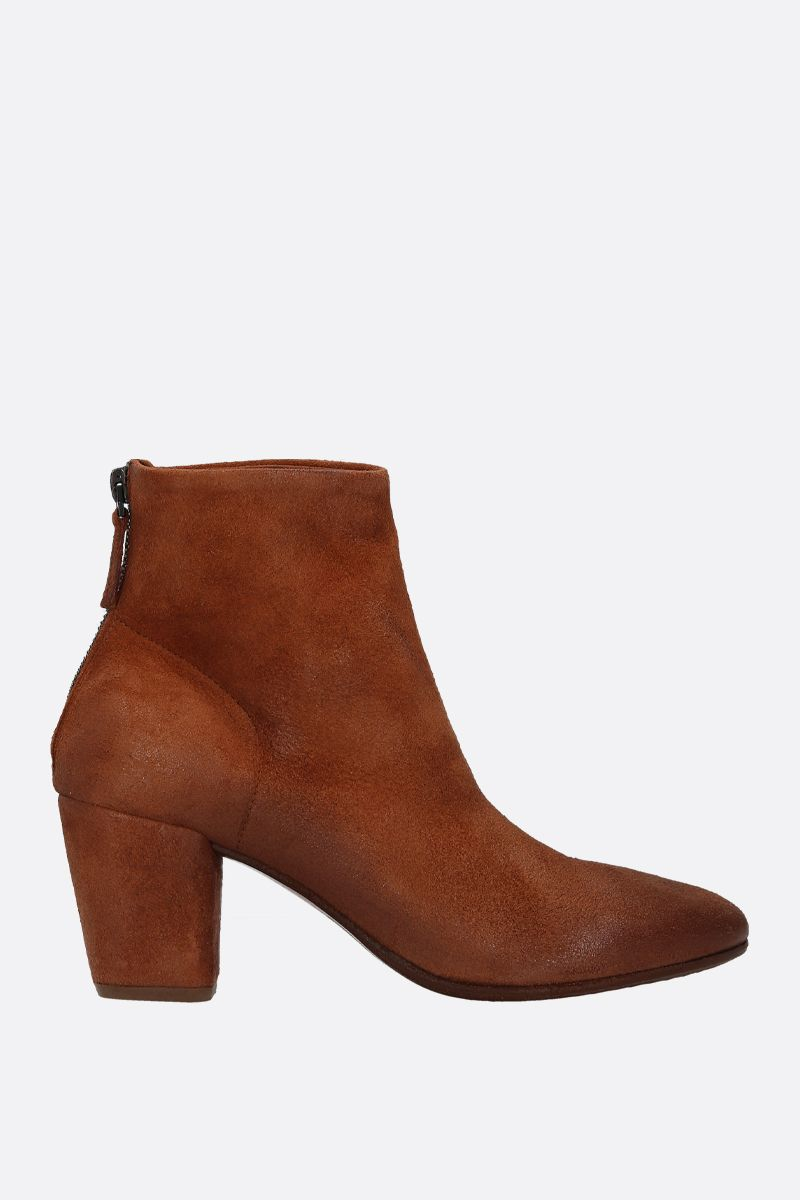 MARSELL: Coltello ankle boots in reversed leather Color Brown_1