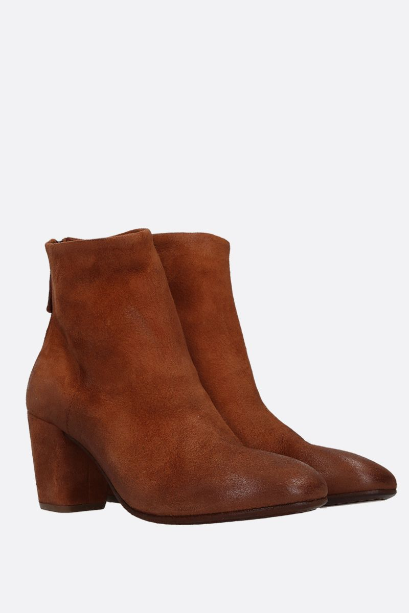 MARSELL: Coltello ankle boots in reversed leather Color Brown_2