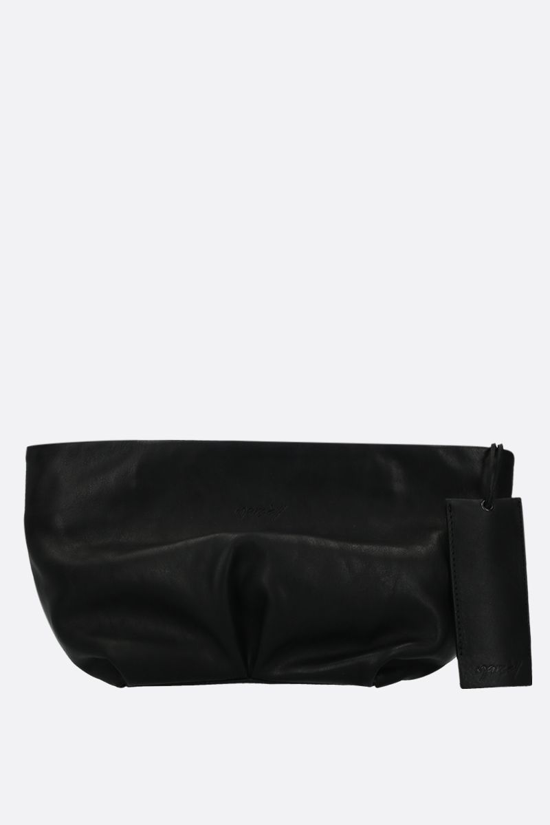 MARSELL: Spinetto small smooth leather strap clutch Color Black_1