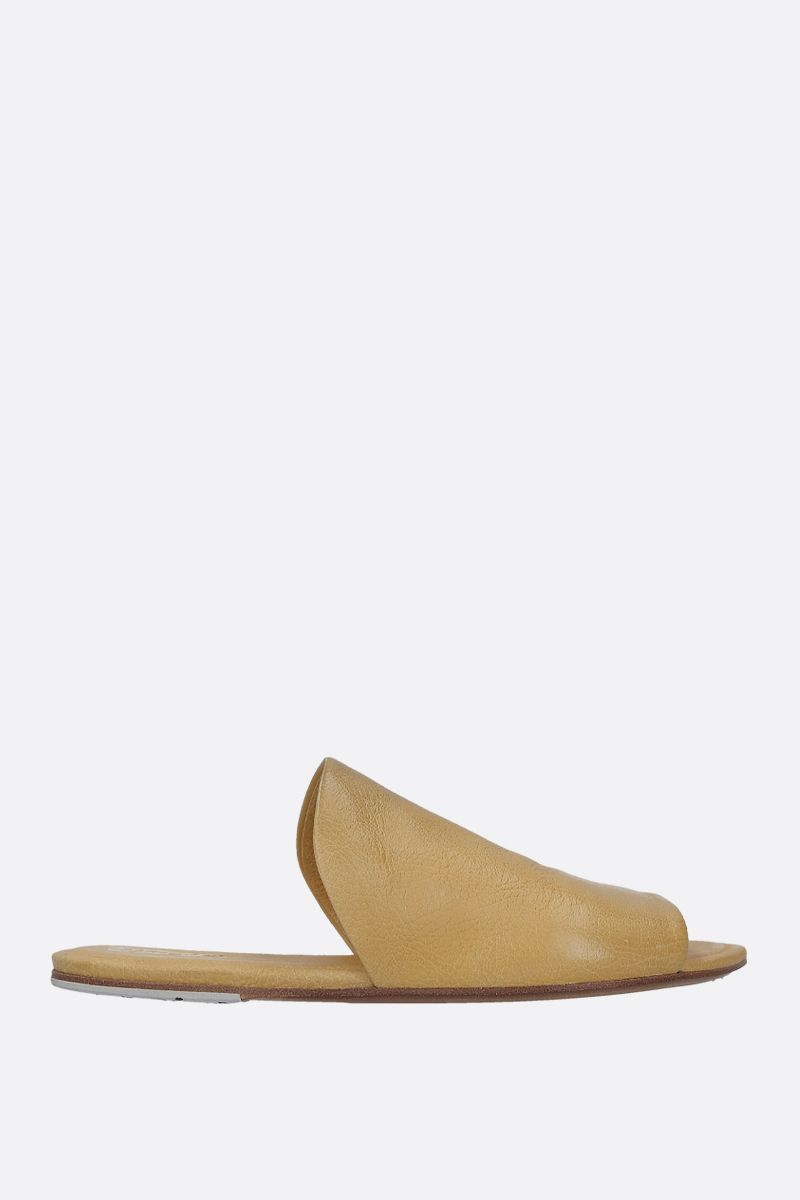 MARSELL: Arsella flat sandals in textured leather Color Yellow_1