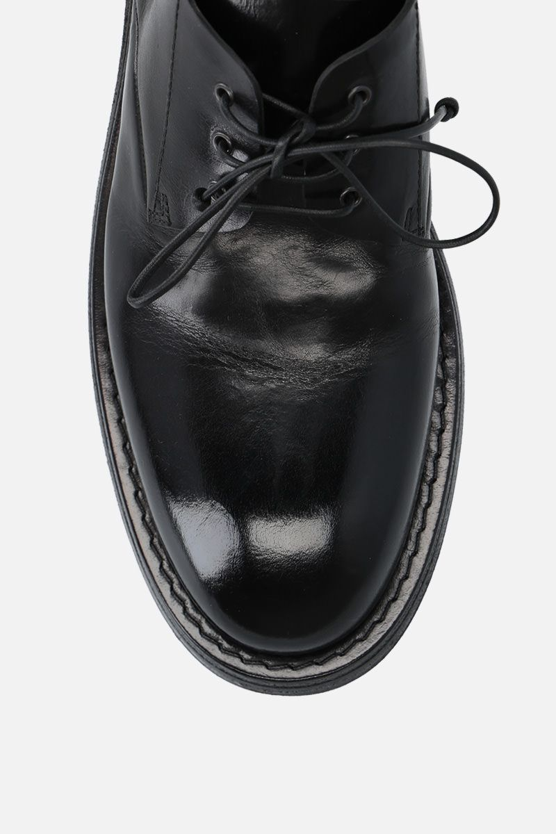 MARSELL: Cetriolo derby shoes in shiny leather Color Black_4