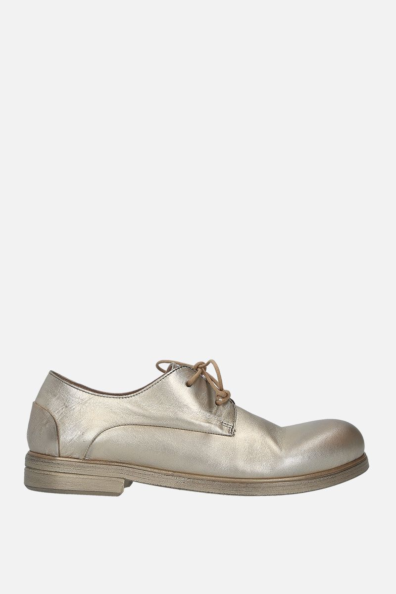 MARSELL: Zucca media derby shoes in laminated leather Color Gold_1