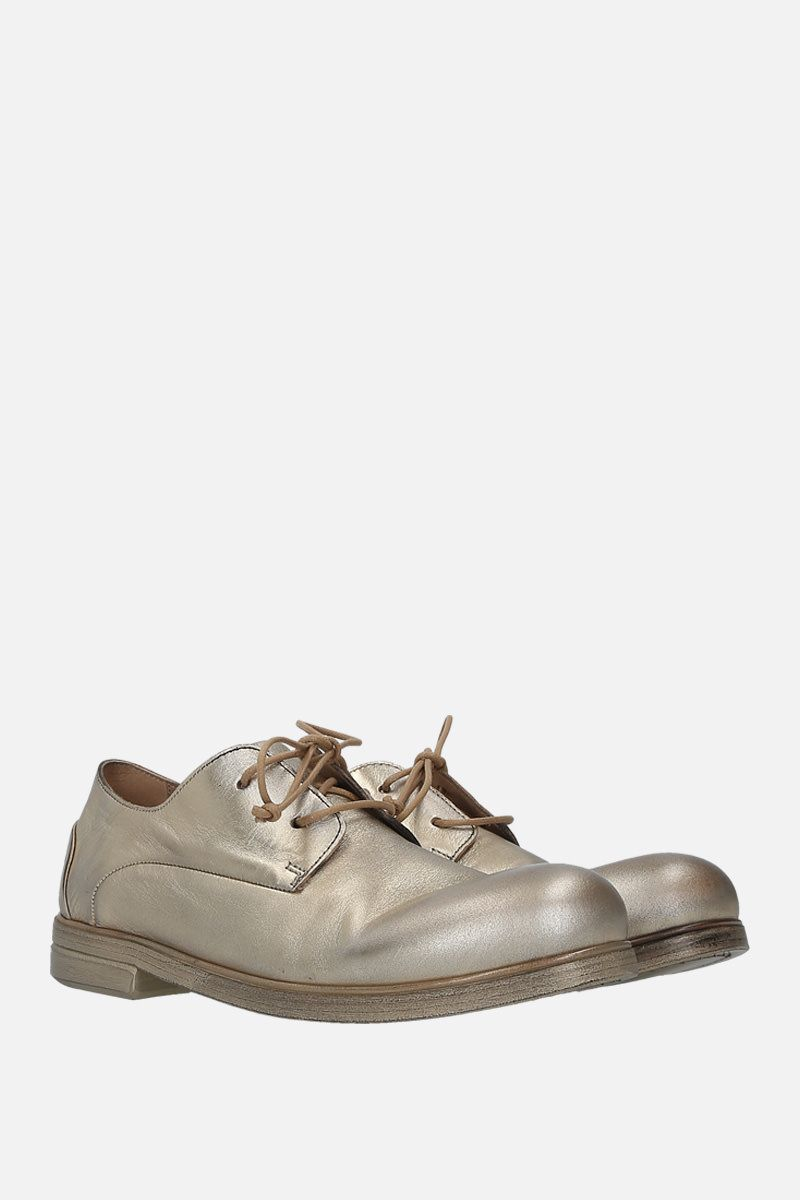 MARSELL: Zucca media derby shoes in laminated leather Color Gold_2
