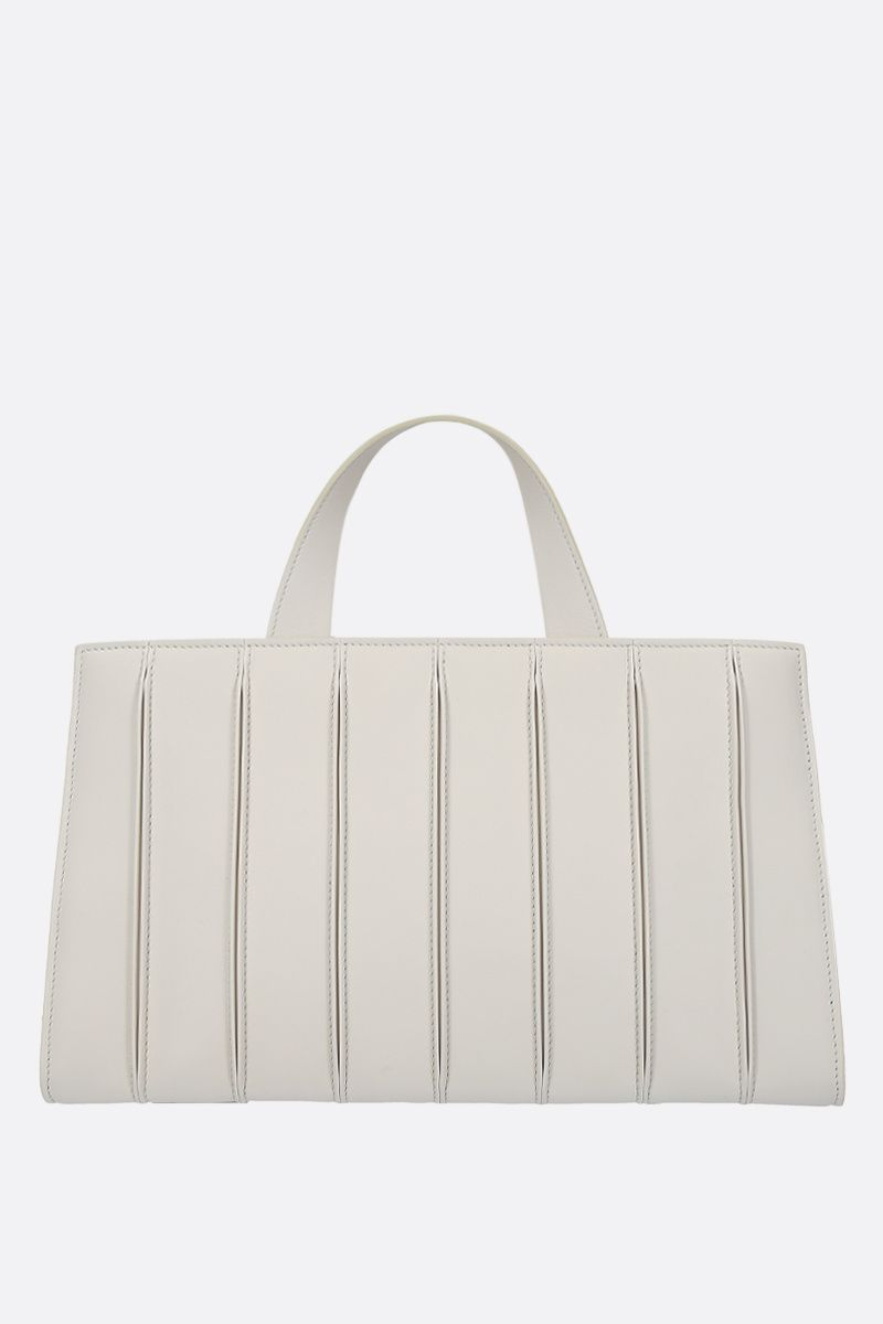 MAX MARA: Whitney large smooth leather tote bag Color White_1