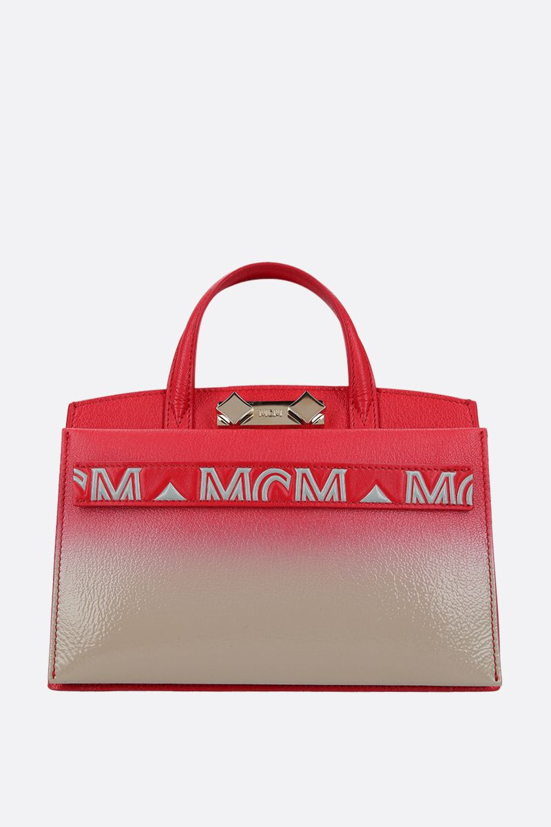 MCM: Milano mini handbag in grainy leather Color Multicolor_1