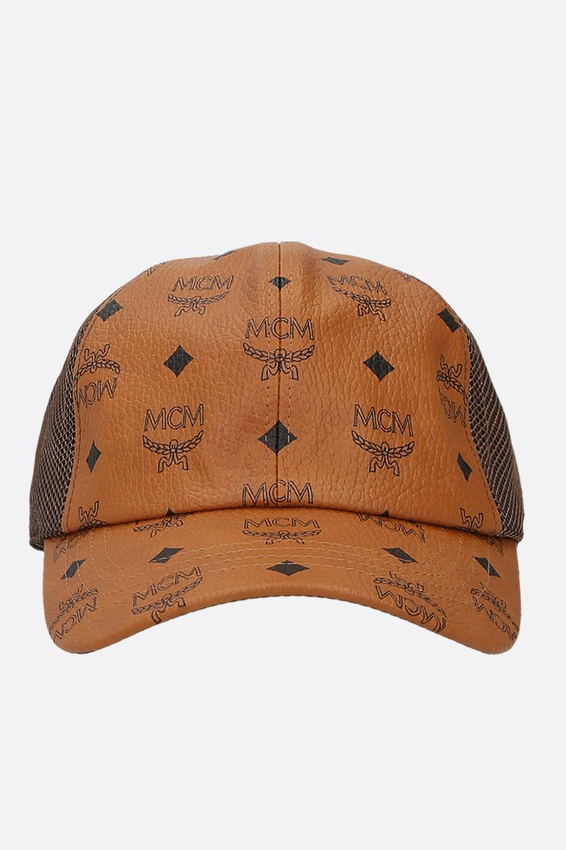 MCM: Visetos coated canvas and mesh cap Color Brown_1
