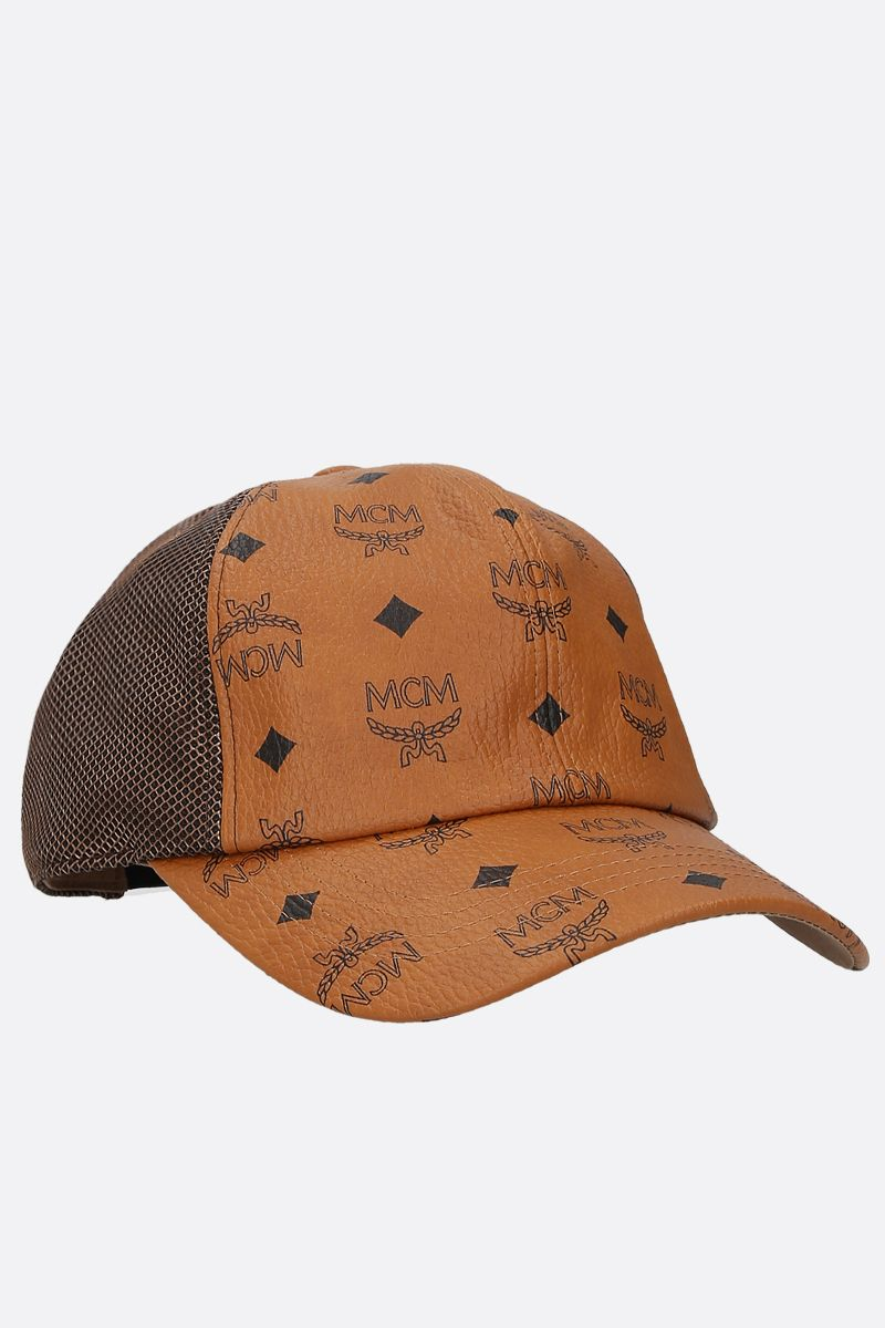 MCM: Visetos coated canvas and mesh cap Color Brown_2