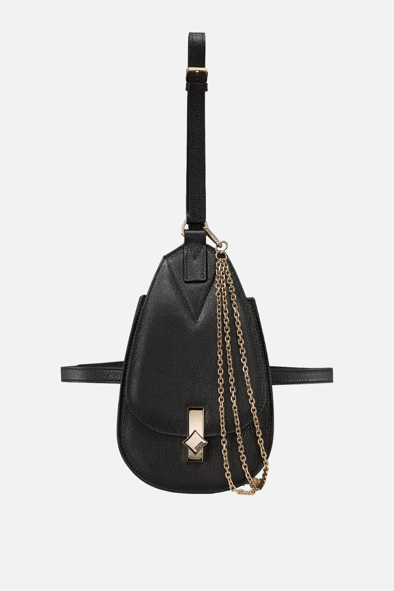 MCM: small Milano belt bag in grainy leather Color Black_1