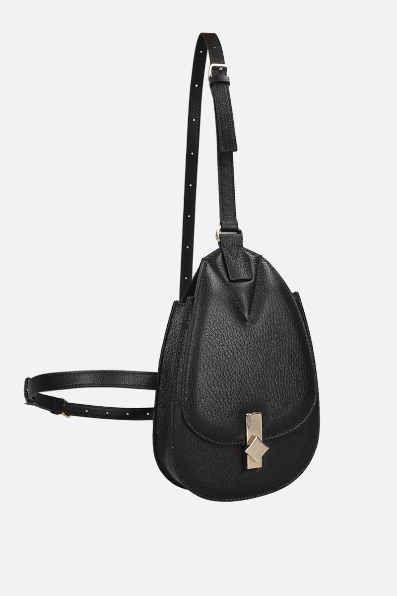 MCM: small Milano belt bag in grainy leather Color Black_2