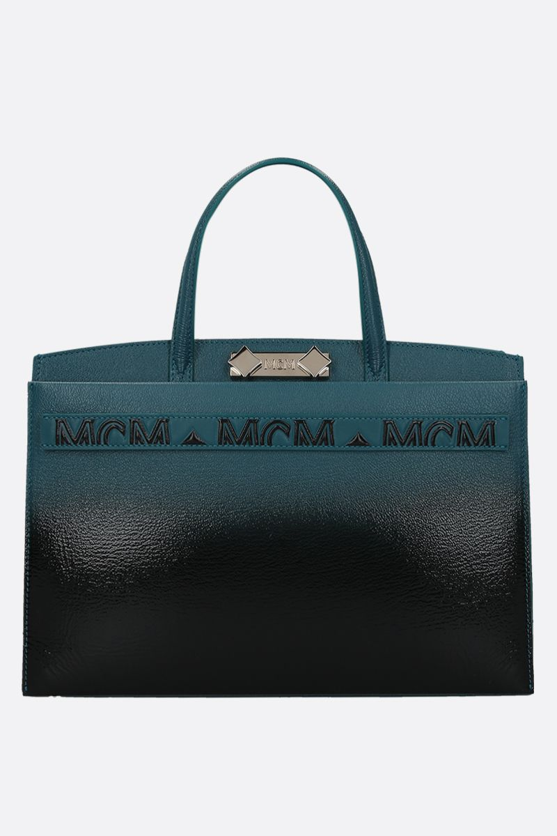 MCM: Milano tote bag in grainy leather Color Black_1