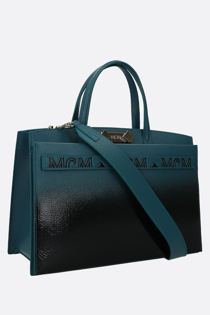 MCM: Milano tote bag in grainy leather Color Black_2