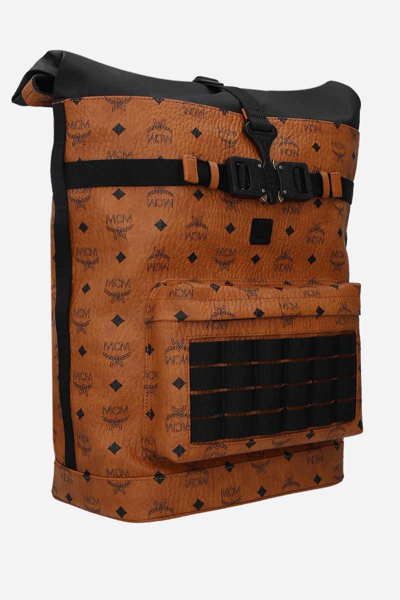 MCM: medium 1976 backpack in Visetos coated canvas Color Brown_2