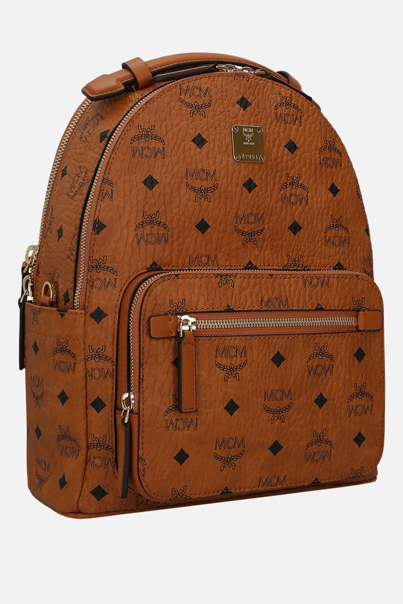 MCM: Visetos coated canvas backpack Color Brown_2