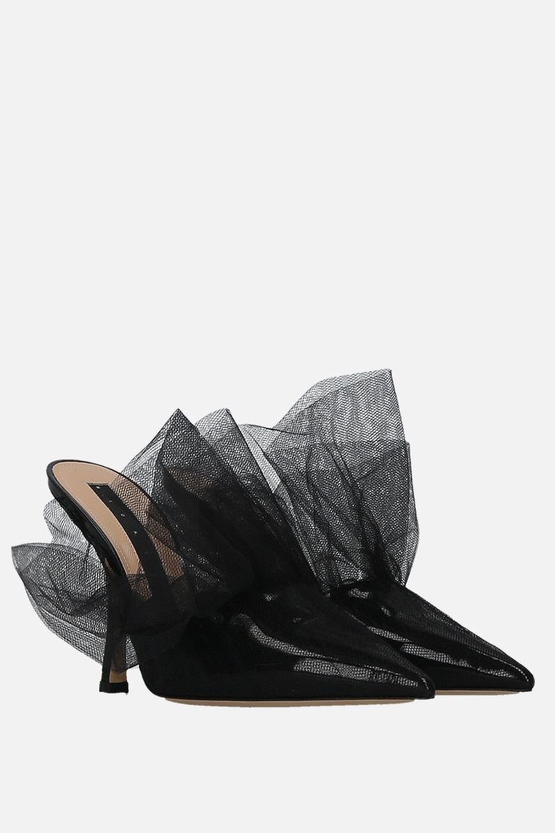 MIDNIGHT 00: patent leather and tulle mules Color Black_2