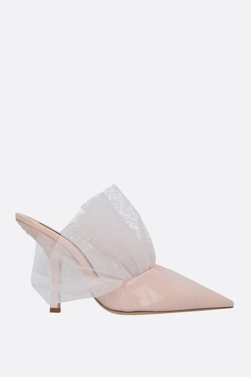 MIDNIGHT 00: mule in vernice e tulle Colore Neutro_1