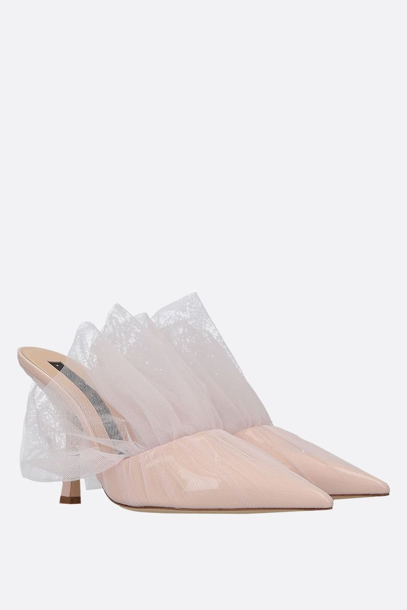 MIDNIGHT 00: mule in vernice e tulle Colore Neutro_2