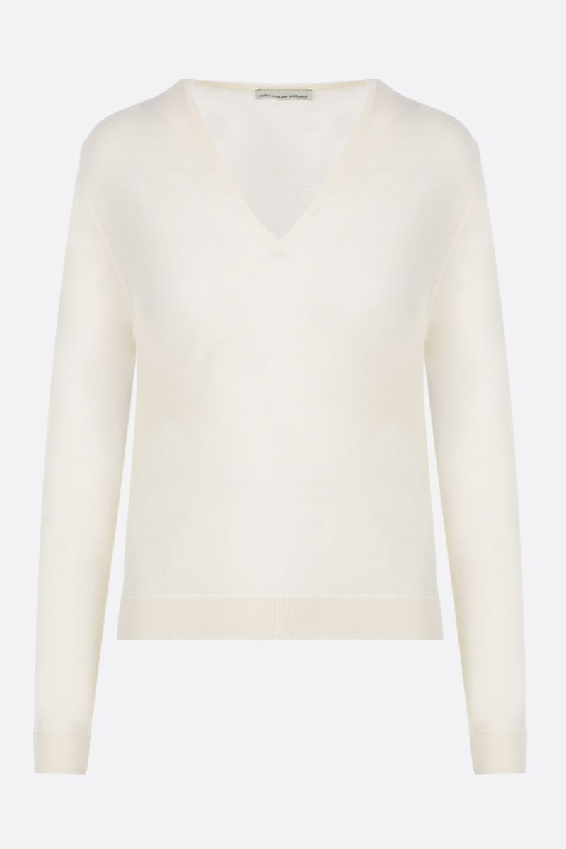 MILA SCHON: combed wool pullover Color White_1