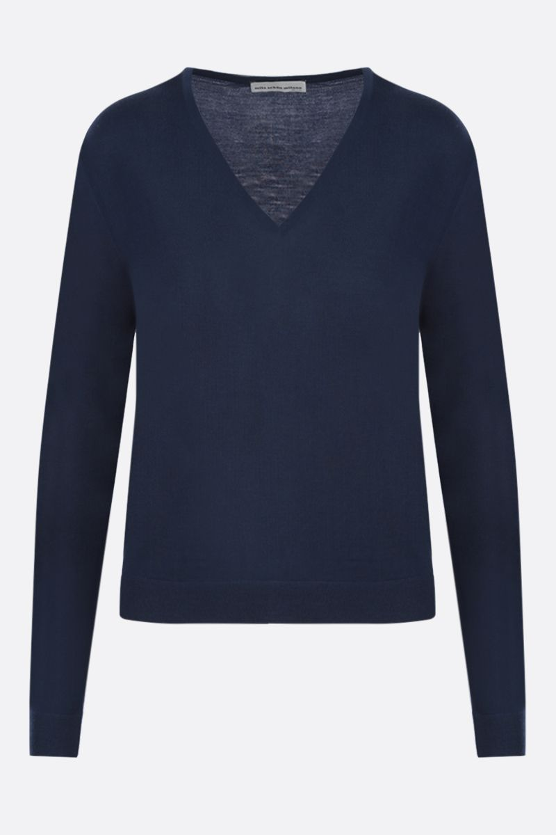 MILA SCHON: combed wool pullover Color Blue_1