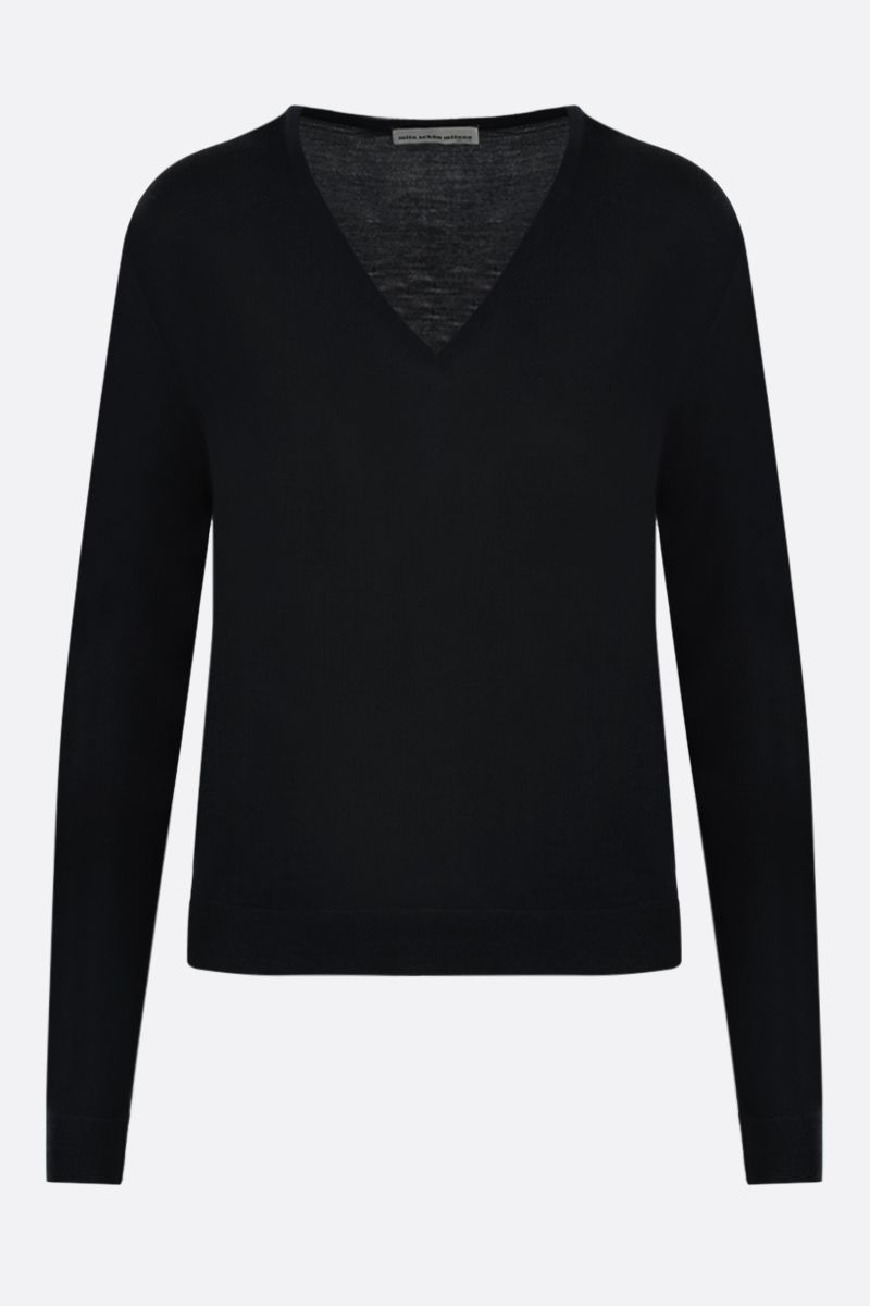 MILA SCHON: combed wool pullover Color Black_1