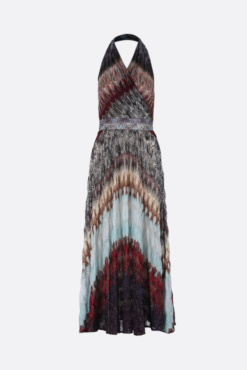 MISSONI: lightweight lurex knit long dress_1