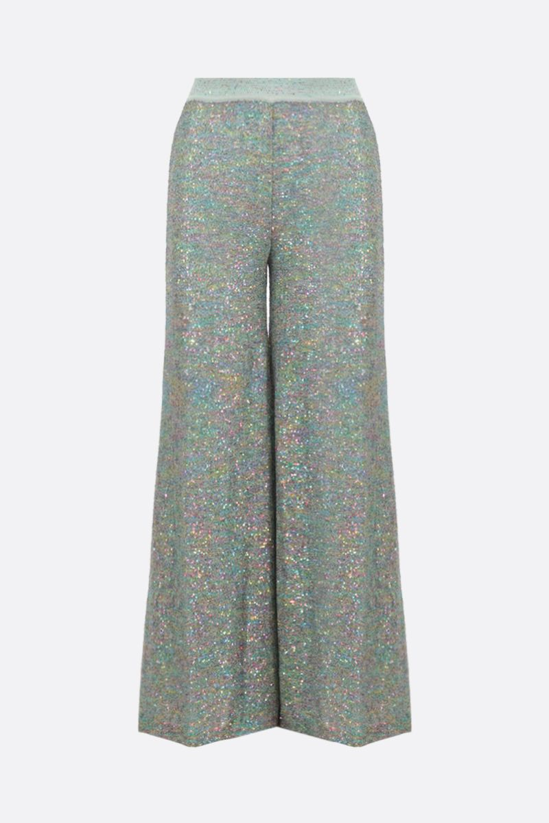 MISSONI: sequinned knit wide-leg pants_1