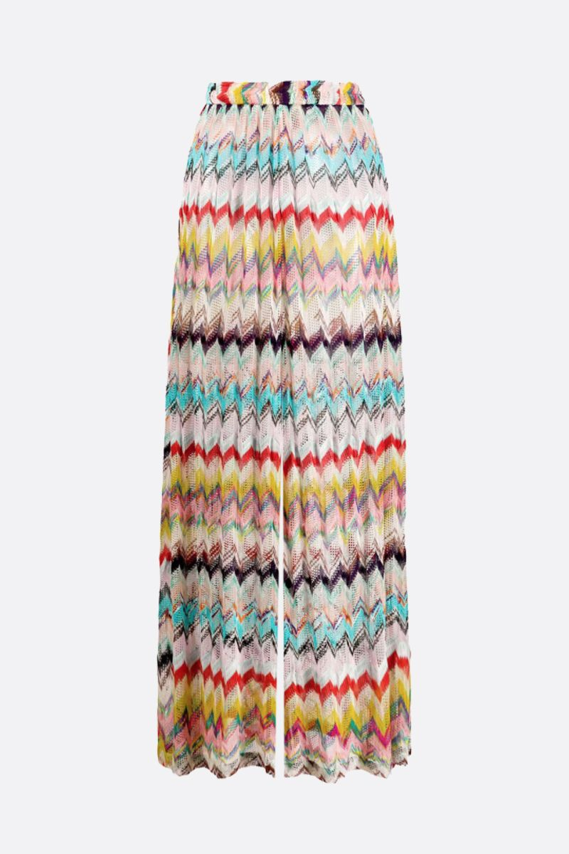 MISSONI: lightweight lurex knit pleated wide-leg pants Color Multicolor_1